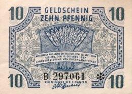 West Germany 10 Pfennig 1947 UNC, Ro.212/FBZ-5 - [ 5] 1945-1949 : Bezetting Door De Geallieerden
