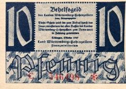 West Germany 10 Pfennig 1947 UNC, Ro.215b/FBZ-8b - [ 5] 1945-1949 : Bezetting Door De Geallieerden