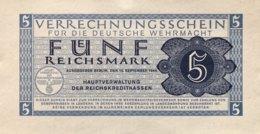 Germany 5 Reichsmark 1944 UNC, Ro.512/DWM-9 - Verrechnungsscheine - Dt. Wehrmacht