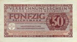 Germany 50 Reichsmark 1944 AU, Ro.514/DWM-11 - Verrechnungsscheine - Dt. Wehrmacht
