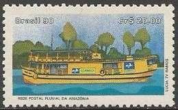 LSJP BRAZIL Postal Postal Network Amazon Embarcacao 1990 - Brazil