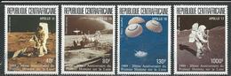 CENTRAFRIQUE  Scott C340-C343 Yvert PA383-PA386 ** (4) Cote 12,50 $ 1989 - Centrafricaine (République)