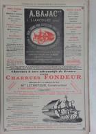 PUB 1902 - Charrue A. Bajac Liancourt 60, Letroteur Viry-Chauny 02, J. Joya Grenoble 38, Chocolats Salmon Nantes 44 - Advertising