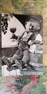 Mecki. Hedgehog - Wine - Old Postcard - ALCOHOL - Mecki