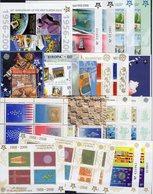 Block-Box EUROPA 60 Blocks ** 750€ Bloque Hb M/s Blocs Ss Sheets Bf Topic Philatelic Fauna Flora Sport History CEPT - Stamps