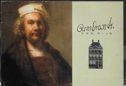 REMBRANDT MUSEUM - AMSTERDAM  - FORMATO GRANDE 17X12 - VIAGGIATA FRANCOBOLLO ASPORTATO - Musei
