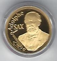 BELGIE - BELGIQUE Adolphe Sax - 50 Euro Gold In Box With Certificate - Belgium