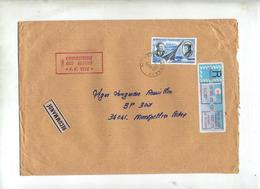 Lettre Recommandee Sete Sur Mermoz + Machine - Marcophilie (Lettres)