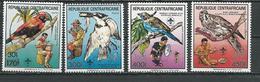 CENTRAFRIQUE  Scott 921-924 Yvert 794A-794B, PA372A-PA372B ** (4) Cote 6,00 $ 1989 Surcharges - Centrafricaine (République)
