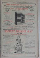 PUB 1902 - Coffre-Fort J. L'Hermitte, Conserves Dauché, L. Levesque, Philippe & Canaud Nantes 44 Loire A - Advertising