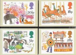 INGHILTERRA - BRITISH FAIRS - SERIE COMPLETA  4 CARTOLINE  - EDIT. HOUSE OF QUESTA - NUOVE - Stamps (pictures)