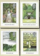 INGHILTERRA - BRITISH GARDENS - SERIE COMPLETA  4 CARTOLINE  - EDIT. HOUSE OF QUESTA - NUOVE - Francobolli (rappresentazioni)