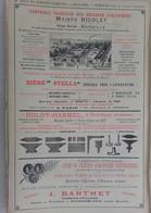PUB 1902 - Coutils A La Fileuse Laval, Scierie J. Bernos Mont De Marsan, Eaux Gazeuse Rigolet Marseille, Enclume Hulot-H - Advertising