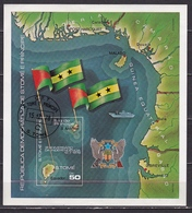 1978 Sao Tomé E Principe 3rd Dyear Of Independence Block 50 Db - Sao Tome En Principe