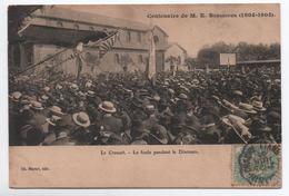 LE CREUSOT (71) - LA FOULE PENDANT LE DISCOURS - CENTENAIRE DE M. E. SCHNEIDER - Le Creusot