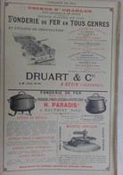 PUB 1902 - Filtre Gasquet Castres 81 Tarn, Fonderie Druart Revin 08 Ardennes, H. Paradis Hautmont 59 Nord - Advertising