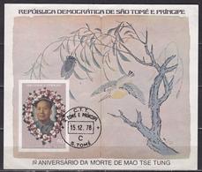 1978 Sao Tomé E Principe Mao Tse Tung Block 50 Db - Sao Tome En Principe