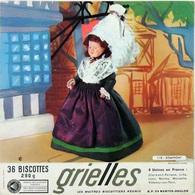 Grande Image Publicitaire Biscottes GRIELLES Série Poupées Folkloriques N° 118 DOMFRONT - Biscottes