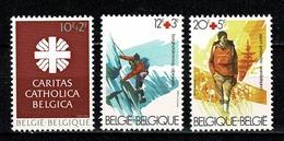 Belg. 1983 COB/OBP 2078**, 20782/83** Caritas Catholica - Rode Kruis / Croix-Rouge - Belgien