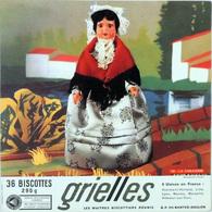 Grande Image Publicitaire Biscottes GRIELLES Série Poupées Folkloriques N° 135 LA CABANIERE - Biscottes
