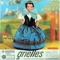 Grande Image Publicitaire Biscottes GRIELLES Série Poupées Folkloriques N° 138 FRANCHE-COMTE - Biscottes