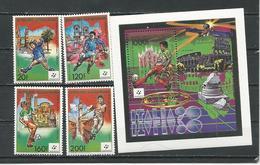 CENTRAFRIQUE  Scott 841-844, 845 Yvert 823-825, PA390, BF101 ** (4+bloc) Cote 14,00 $ 1989 - Centrafricaine (République)