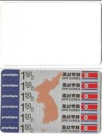 KOREA 1993 Map Flag 1.50w TRIAL PRINT TEST:map Copper Colour - Korea, North