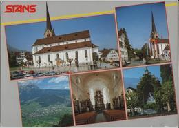 Stans - Kath. Pfarrkirche St. Peter, Winkelrieddenkmal - NE Neuchâtel