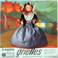 Grande Image Publicitaire Biscottes GRIELLES Série Poupées Folkloriques N° 146 JERSEY Île Anglo-normande - Biscottes