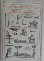 PUB 1902 - Briques J. Joly Blois 41, Mécanique M. Monneret Albert 80, Huot Basset Pl Belle-cour Lyon - Advertising