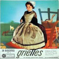 Grande Image Publicitaire Biscottes GRIELLES Série Poupées Folkloriques N° 149 CHALLANS - Biscottes