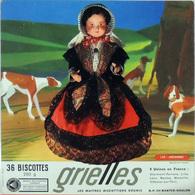Grande Image Publicitaire Biscottes GRIELLES Série Poupées Folkloriques N° 150 ARDENNES - Biscottes