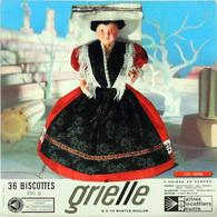 Grande Image Publicitaire Biscottes GRIELLES Série Poupées Folkloriques N° 152 SICILE - Biscottes