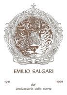 [MD2313] CPM - TORINO - EMILIO SALGARI - 80° ANNIVERSARIO DELLA MORTE 1911/1991 - BERTOLETTI PARMA IN RILIEVO - NV - Scrittori