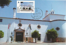"""Spain Maxicard – España Tarjeta Máxima Con Sello Personalizado Del """"Parador Nacional De Turismo"""" De Mérida - Chiese E Cattedrali"""