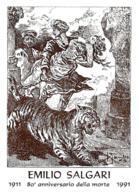 [MD2314] CPM - TORINO - EMILIO SALGARI - 80° ANNIVERSARIO DELLA MORTE 1911/1991 - BERTOLETTI PARMA IN RILIEVO - NV - Scrittori