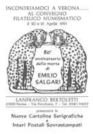 [MD2315] CPM - TORINO - EMILIO SALGARI - 80° ANNIVERSARIO DELLA MORTE 1911/1991 - BERTOLETTI PARMA IN RILIEVO - NV - Scrittori