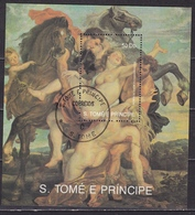 Sao Tomé E Principe 350 Years Rubens Block With Stamps 50 Db - Sao Tome En Principe