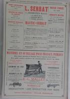 PUB 1902 - Graisse Mastic-Serbat J. Jacqmarcq St Saulve, E. L Mallet Marseille, Machine Coudre, Marée, Menuiserie Marine - Advertising