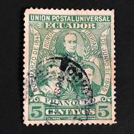 ◆◆ Ecuador 1895 5c Green   USED  EC25 - Equateur