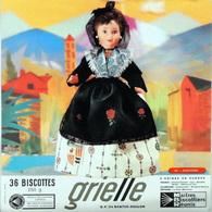 Grande Image Publicitaire Biscottes GRIELLES Série Poupées Folkloriques N° 161 ANDORRE - Biscottes
