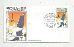 Timbre, FDC , 1 Er Jour , Nouvelle Calédonie Et Dépendances, TAI-UTA , 30 E Anniversaire Vol Régulier , NOUMEA, 1986 - Neukaledonien