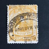 ◆◆ Ecuador 1895 10c Ocher    USED  EC26 - Equateur