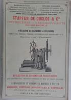PUB 1902 - Mécanique Stapfer De Duclos Marseille-Joliette, Victor COQ Aix En Provence 13 BdR - Advertising