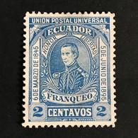 ◆◆ Ecuador 1895  2c Blue     NEW  EC28 - Equateur