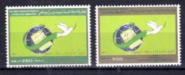 8.4.1989; Proklamation Der Volksmacht, Mi-Nr.  1814 + 1815, Neu **, Los 50522 - Libyen