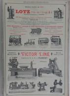 PUB 1902 - Mécanique Lotz Nantes, Victor Liné Albert 80, Nassivet Nantes 44, A. Pinguely Lyon 69 - Advertising