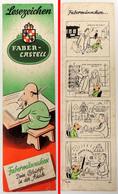 ANCIEN Marque-page Signet : Crayons Papier FABER-CASTELL En Allemand Avec Une BD Au Verso - Marque-Pages