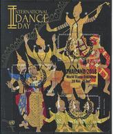 UN-New York. Scott # 1133g, FDC  Sheetlet Of 6. Intl. Day Of Dance O/P Thailand 2018 - New York - Sede De La Organización De Las NU