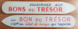 ANCIEN Marque-page Signet : Souscrivez Au Bon Du Trésor ... - Bookmarks